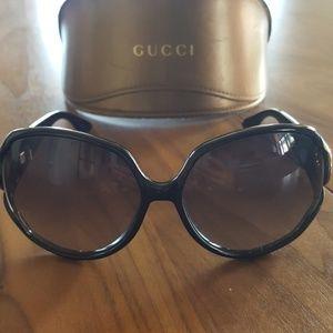 Vintage Gucci Black Sunglasses